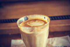 Cup of latte coffee - vintage effect style pictures Stock Image