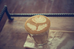 Cup of latte coffee - vintage effect style pictures Royalty Free Stock Photo