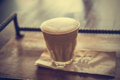 Cup of latte coffee - vintage effect style pictures Royalty Free Stock Images