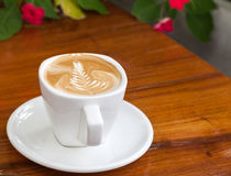 Cup of latte coffee Royalty Free Stock Photo