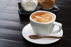 Cup of latte coffee Royalty Free Stock Image