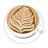 Cup of Latte Espresson Drink Illustration Stock Images