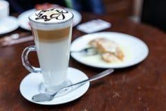 Cup latte Kaffee Lizenzfreie Stockfotos