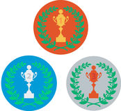 Cup and laurel wreath Stock Photography