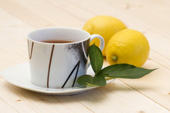 Cup of lemon tea Royalty Free Stock Photos