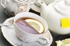 Cup of lemon tea Stock Photos