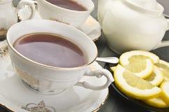 Cup of lemon tea Stock Images