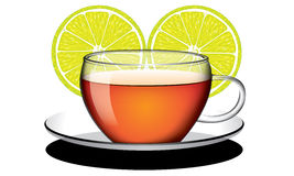 Cup of lemon tea vector Royalty Free Stock Images
