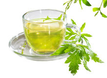 Cup of lemon verbena tea Stock Photo