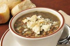 Cup of lentil soup Stock Photos
