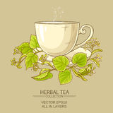 Cup of linden tea Royalty Free Stock Photography