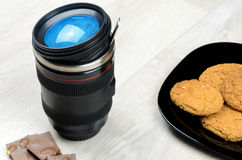 Cup that looks like a camera lens Stock Photography