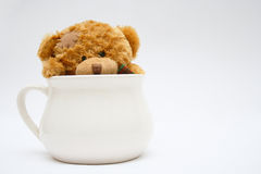 Cup of love. Tea cup full of love and sensitivity Royalty Free Stock Photos