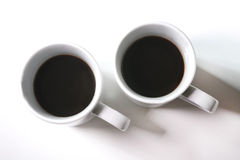 Cup love. Coffee cup love on white background Stock Photography