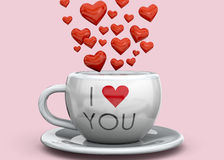Cup of Love - 3D Stock Photo