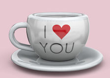 Cup of Love - 3D Stock Photography