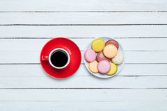 Cup and macaron Royalty Free Stock Photography