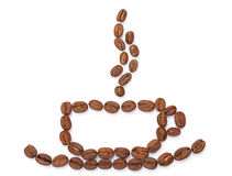 Cup made from coffee beans Royalty Free Stock Photography