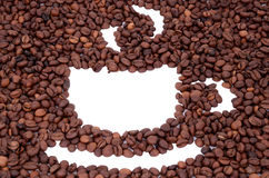 The cup made ​​of coffee beans Stock Photography