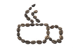 Cup made of coffee beans Stock Photography