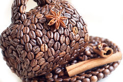 the cup made of coffee beans Stock Photography