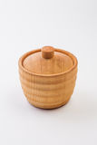 Cup made from Hinoki wood Stock Photos