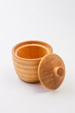 Cup made from Hinoki wood Stock Image