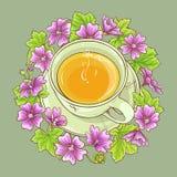 Cup of malva tea Royalty Free Stock Photos
