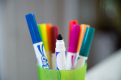 Cup of Markers Stock Photos