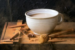 Cup of masala chai Stock Photos