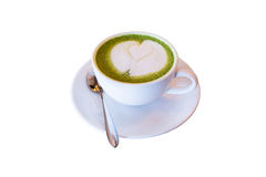 Cup of matcha green tea,drink for health,Clipping path Stock Images