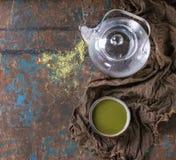 Cup of matcha tea Stock Image