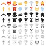 Cup, medal, pennant, and other elements. Awards and Trophies set collection icons in cartoon style vector symbol stock. Illustration Stock Photos