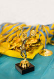 Cup and medals. Royalty Free Stock Photos