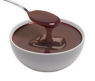Cup of melted chocolate Royalty Free Stock Photos