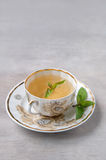 Cup of menth tea. Close-up, selective focus Stock Photo