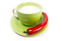 Cup Milch Lizenzfreie Stockfotos