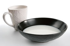 Cup with milk Royalty Free Stock Images