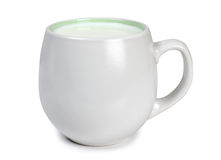 Cup with milk Stock Photos