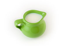 Cup of milk. A cup of milk isolated on white Stock Photo