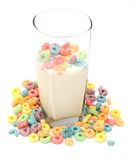 Cup of milk and cereal Stock Photo