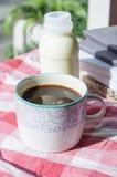 Cup and milk Stock Photos