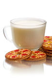 Cup of milk and cookies Royalty Free Stock Image