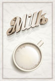 Cup of Milk Poster Template Stock Photography