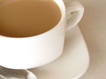 Cup of milky coffee Royalty Free Stock Photos