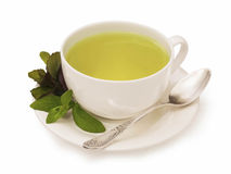 Cup of mint tea Royalty Free Stock Image