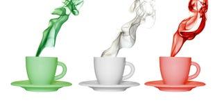 Cup mit den Farben von Italien Stockfoto