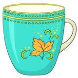 Cup mit einem Muster Stockbild