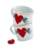 Cup mit Engeln und Innerem Lizenzfreies Stockbild
