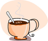 Cup mit Kaffee Stockfotos